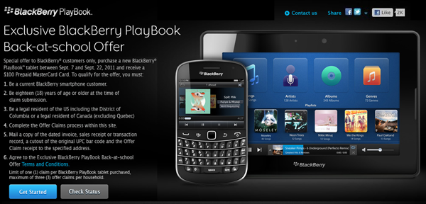 PlayBook offer