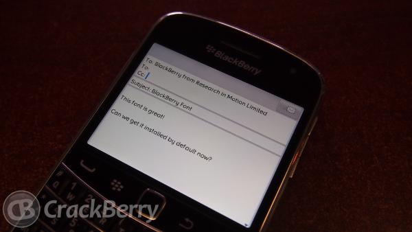 BlackBerry Font