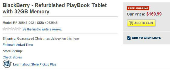 PlayBook Refurb