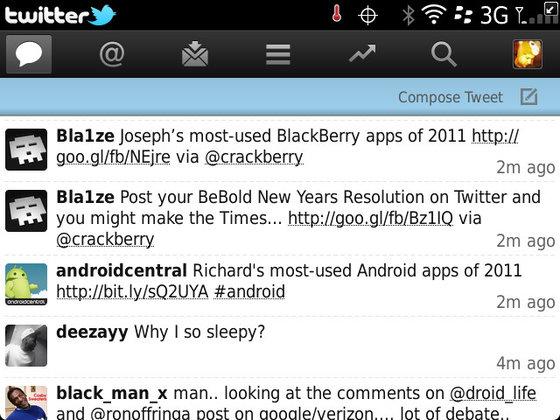 Twitter for BB